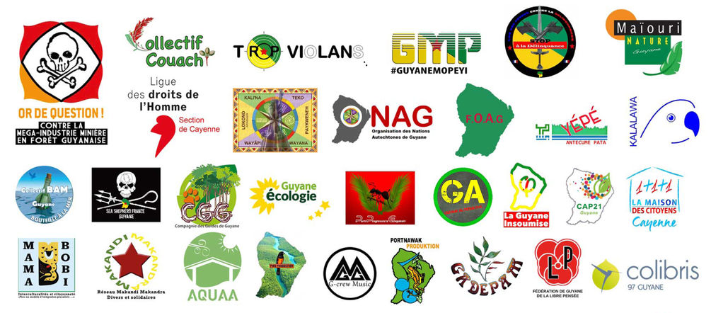 Logos des associations du Collectif Or de question et de celles le soutenant