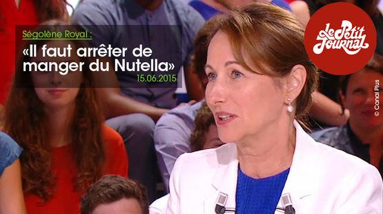La ministre de l'écologie Ségolène Royal lors de l'émission Le Petit Journal sur Canal Plus le lundi 15 juin 2015